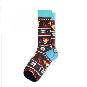 Fun Socks Cogri Fair Isle  Men's Cotton Size 6-12